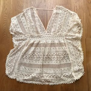 Lace coverup shirt Xhiliration